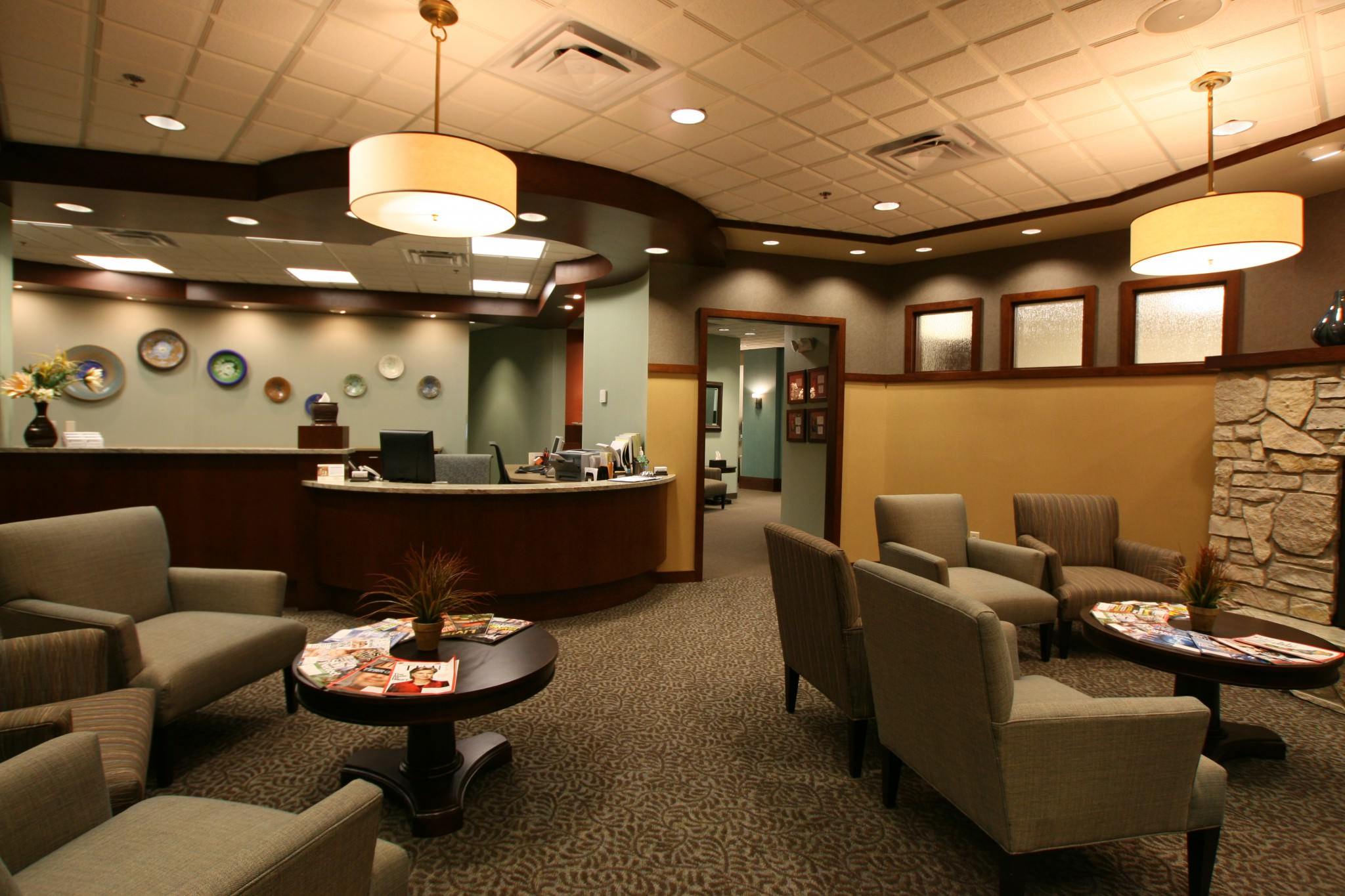 Endodontics reception area