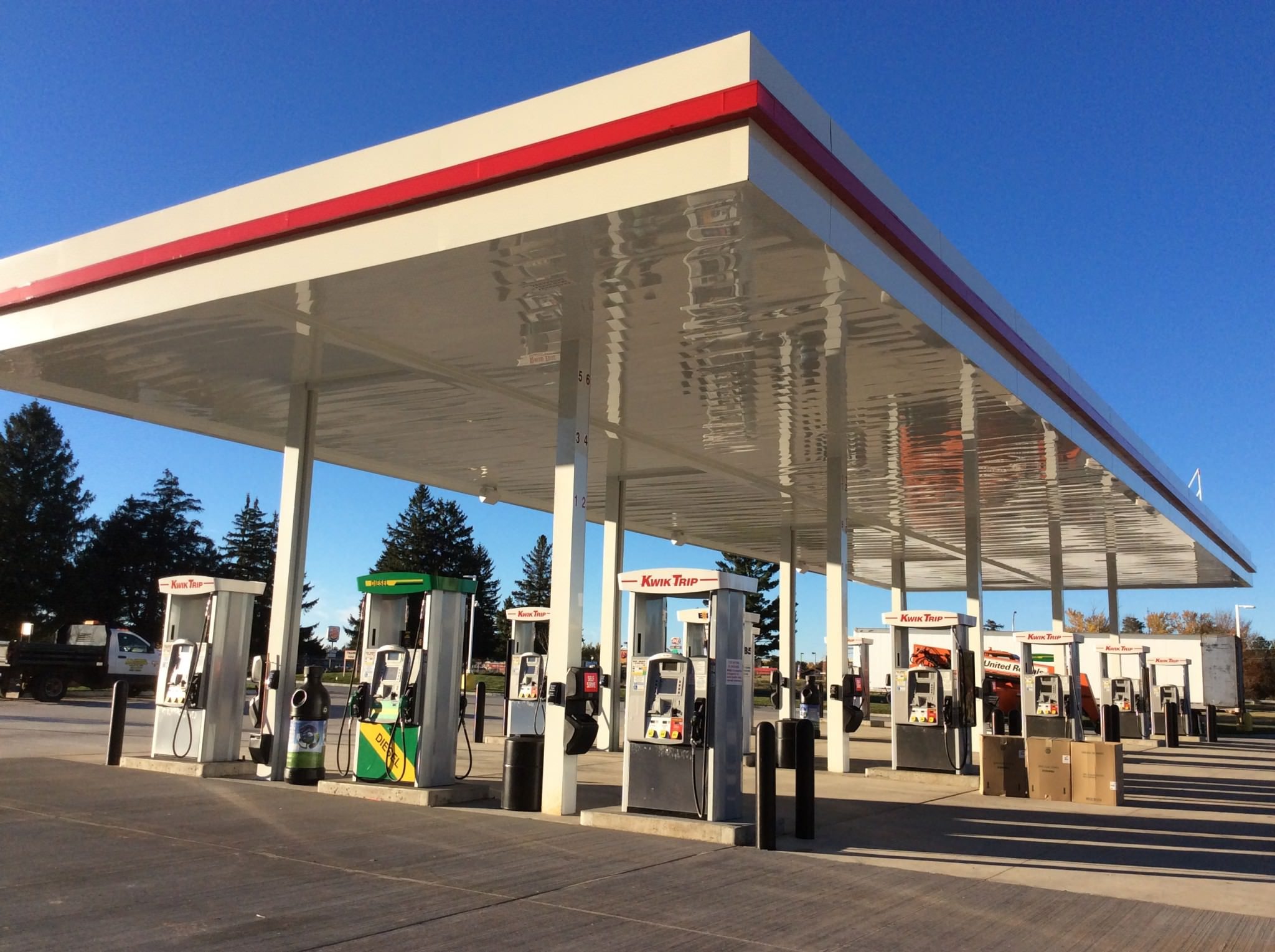 Kwik Trip gas station pumps