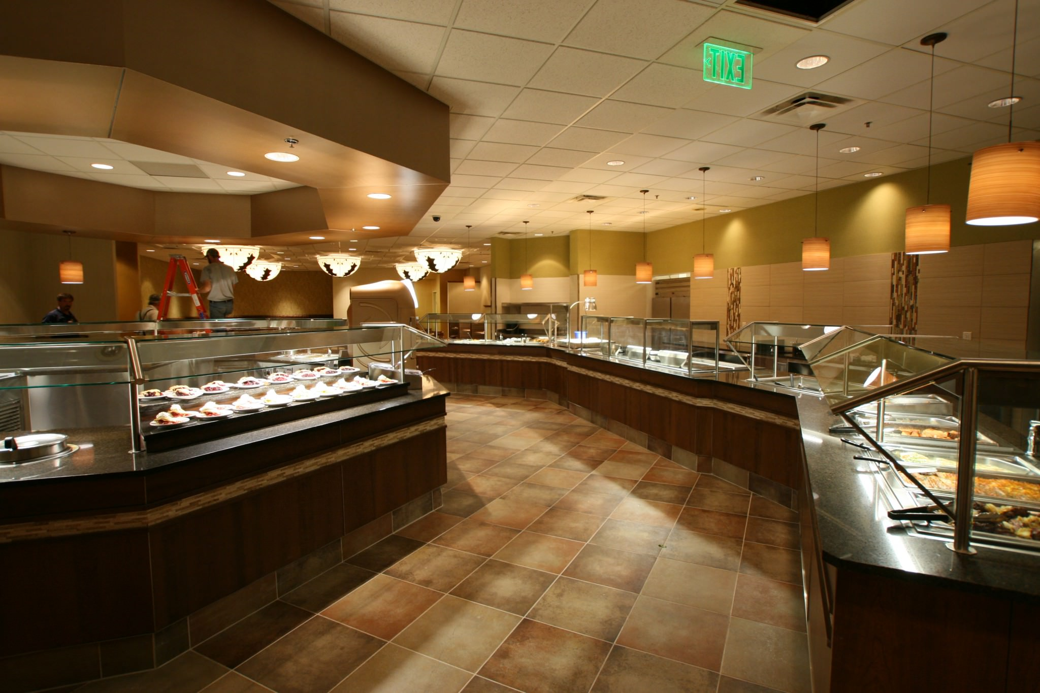 Prairies Edge Casino buffet line