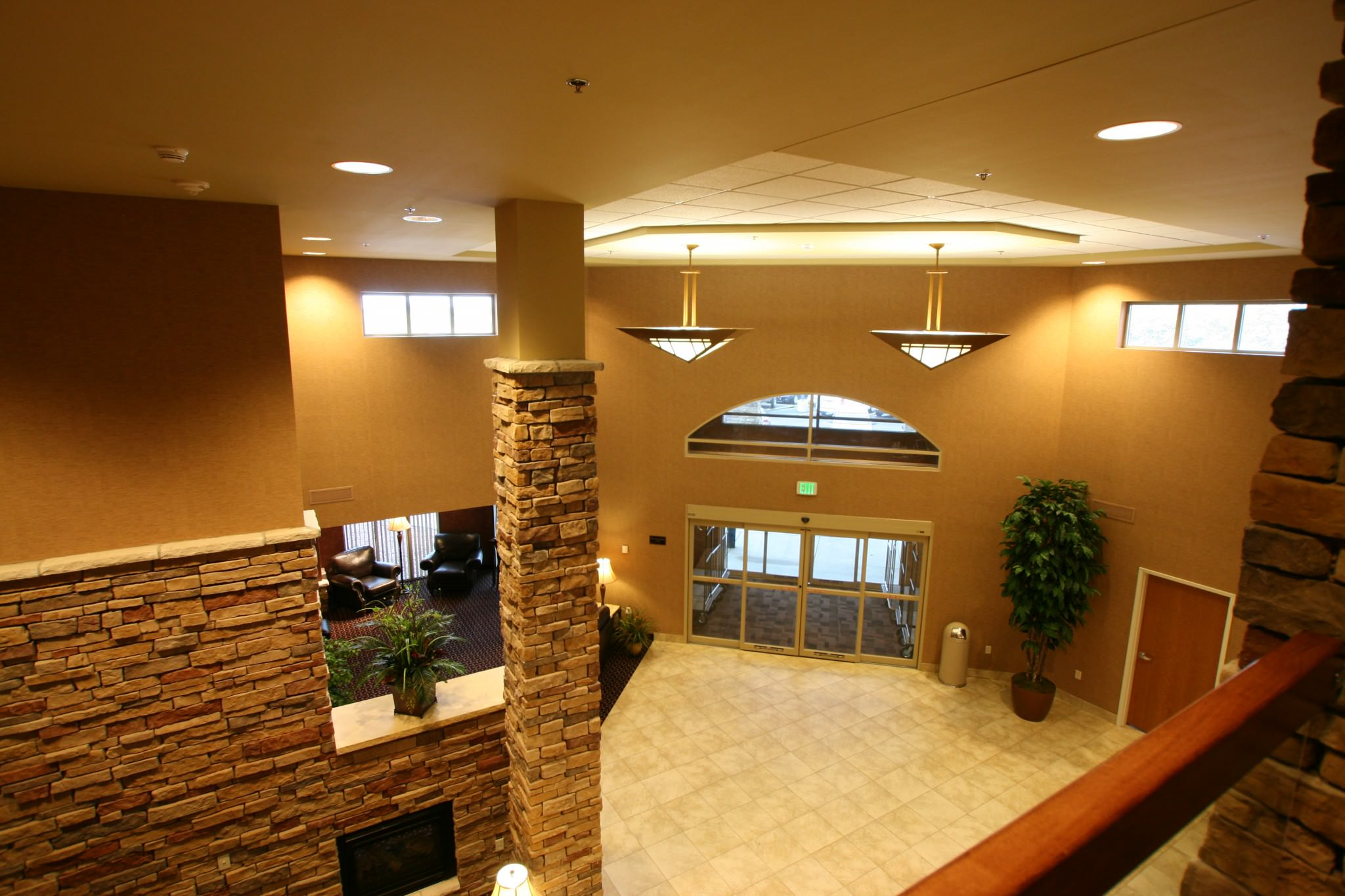 Prairies Edge Casino entrance with tall ceilings